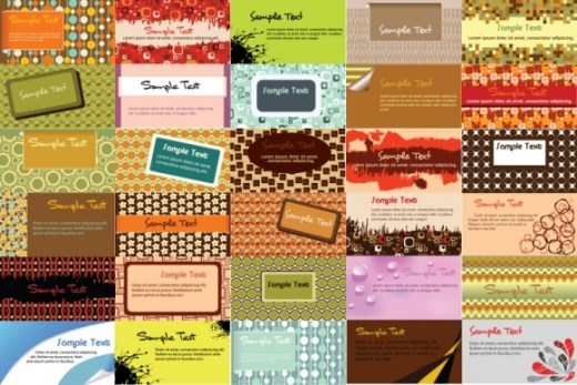 30-Patterned-Business-Card-Vector-Templates-580x387