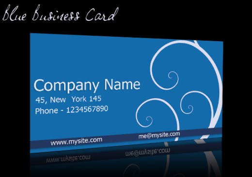Floral-Blue-Business-Card