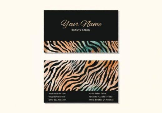 zebra-print-business-card