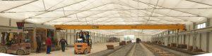Les entrepôts de stockage Polplan : idéal pour le stockage temporaire de matériaux ou marchandises