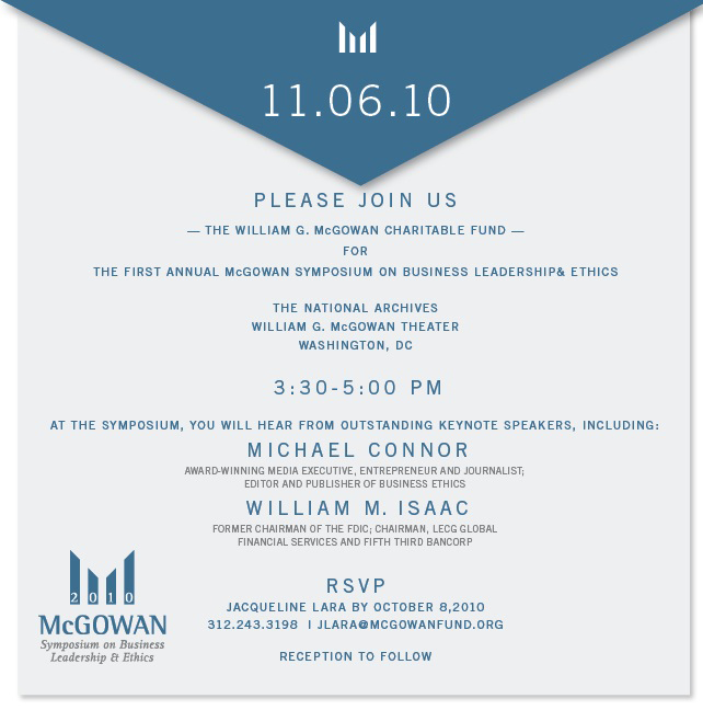 McGowan Symposium Invitation