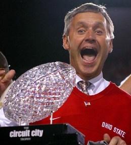 Former Ohio State University football coach Jim Tressel.  December 2007.