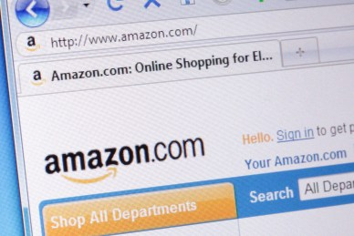 Sacramento, California, USA - February 25, 2011: Closeup image of a portion of the amazon.com homepage displayed in a Firefox browser on a computer monitor. Amazon.com started its online bookstore in July 1995. Today it is the world's largest internet retailer.