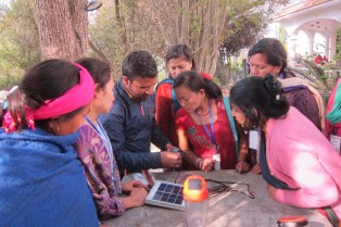 Empower Generation trains Nepalese women to sell solar lanterns in their communities. The program creates jobs and provides clean energy.
