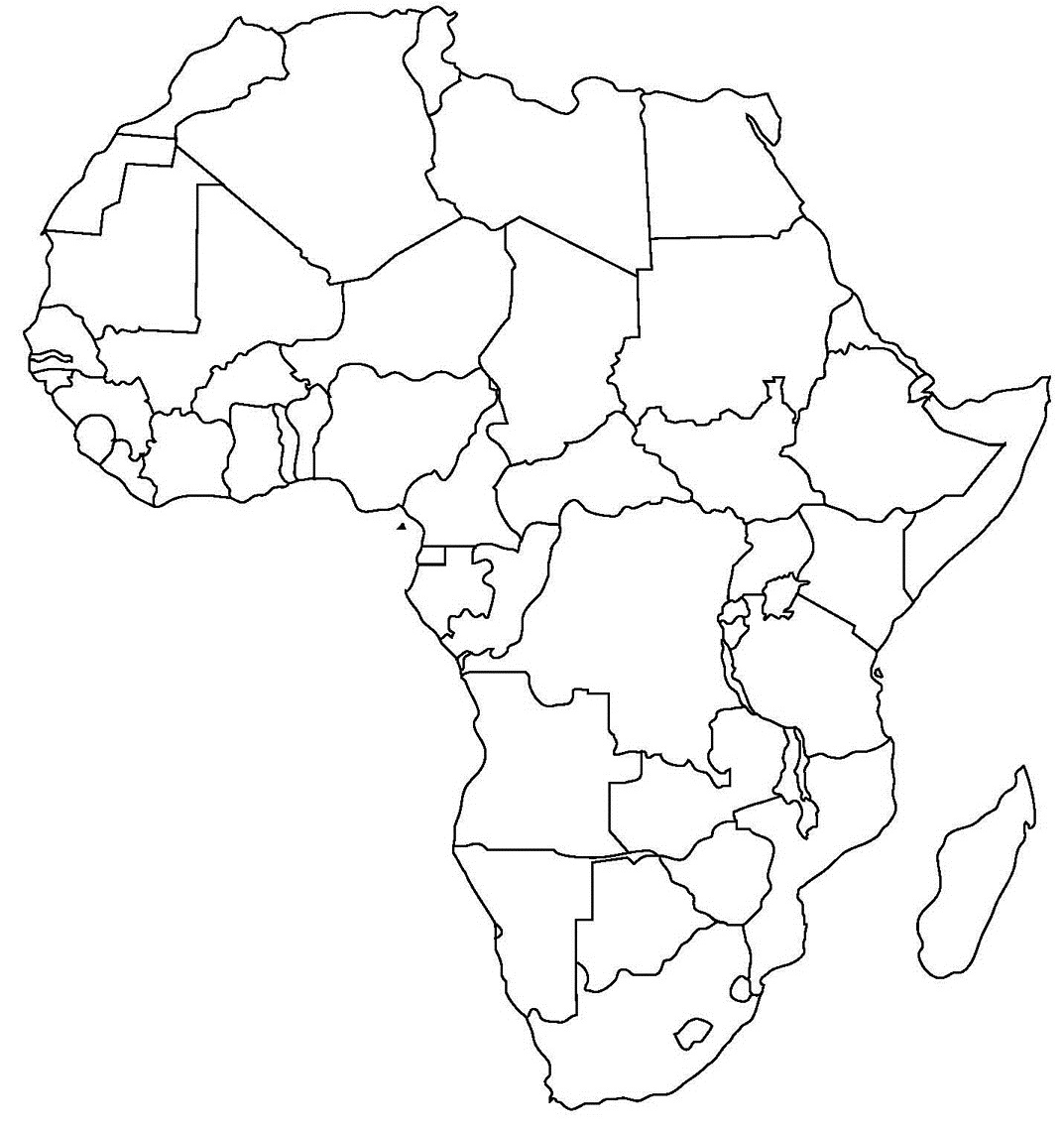 Blank Worksheet For Africa S Rivers