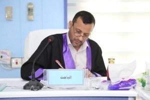 جانب من مناقشة الطالب عباس علوان غازي
