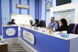 جانب من مناقشة الطالبة سجى باسم احمد