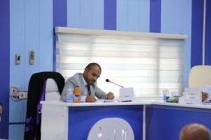 جانب من مناقشة الطالب وسام سرحان صيهود