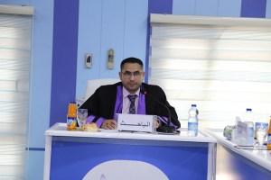 جانب من مناقشة الطالب محمد ربيع نعمه