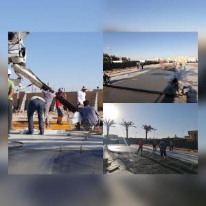 صب ملعب كلية الإدارة والاقتصاد جامعة كربلاء المرحلة الثانية