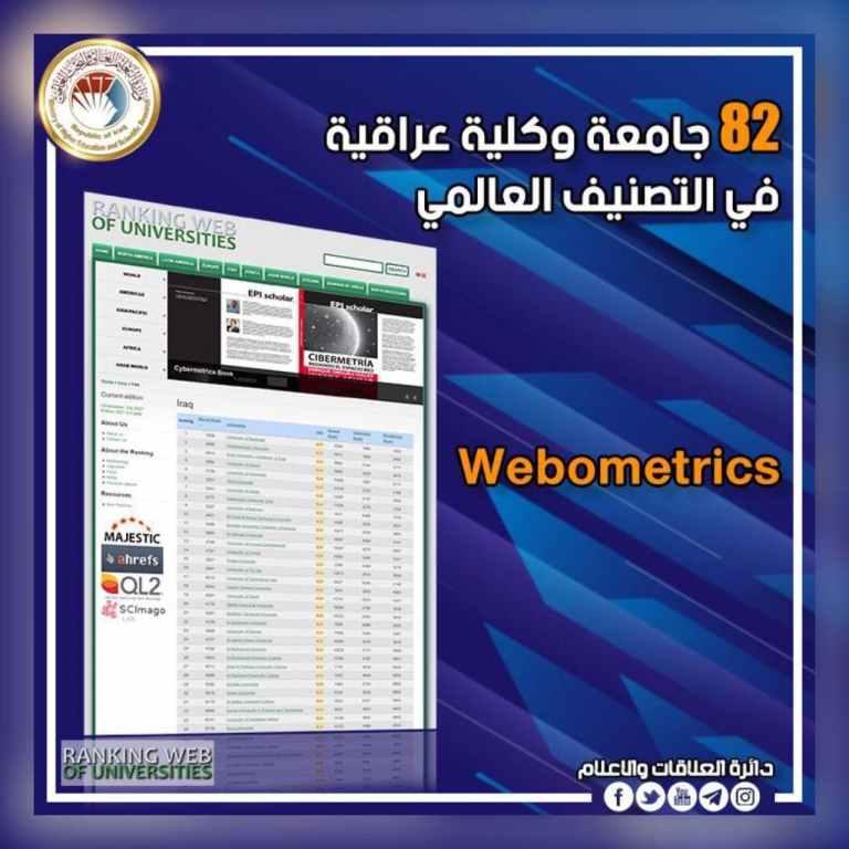 استكمالا للمسيرة العلمية الرائعة لجامعتنا الحبيبة ولأول مرة منذ تأسيسها نبارك لكم دخول جامعة كربلاء في تصنيف التايمز البريطاني العالمي Arab university Rankings: 2021