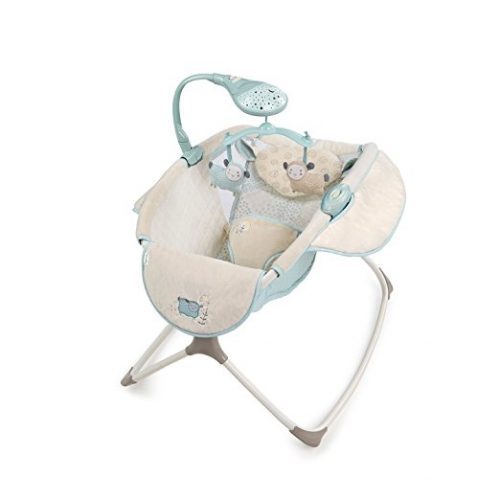 The Lullaby Lamb Ingenuity Moonlight Rocker-10 Best Baby Swings