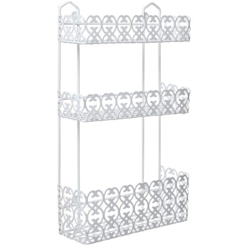 The MyGift Decorative 3-Tier Basket Wall Mounted Shelve- bathroom shelves