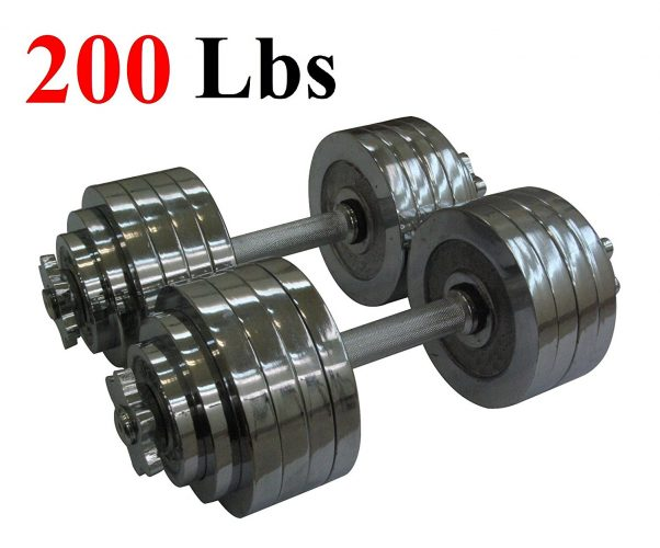 The One Pair Chrome Plated Metal Adjustable Dumbbells