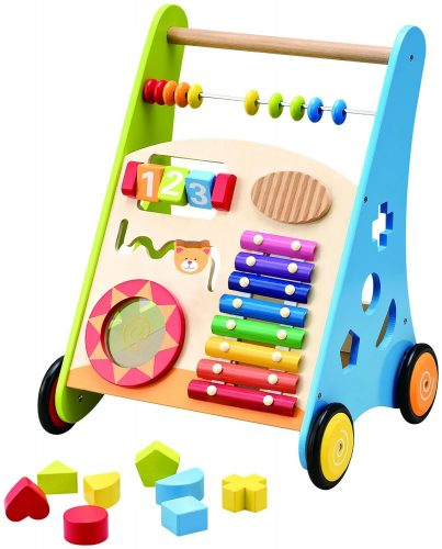 The Wooden Activity Kitchen Baby Walker- best baby walkers
