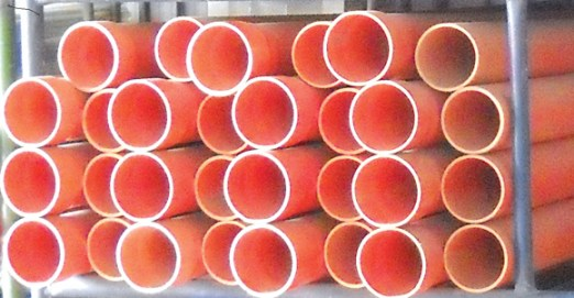 PVC electrical conduits made by Pipemakers in Lae, Morobe Province