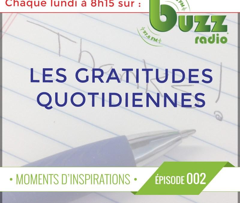 Chronique: Les gratitudes quotidiennes