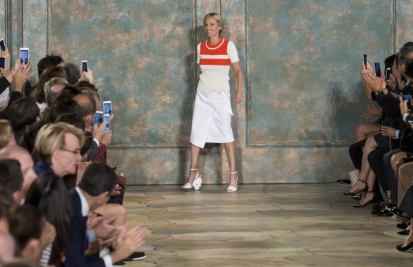 Tory Burch on stage at Lincoln Center