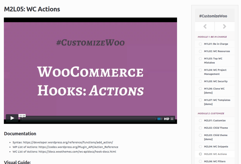 #CustomizeWoo: how lessons look like