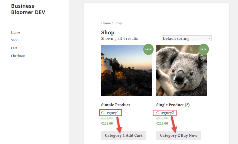 WooCommerce: Change Add to Cart Text depending on the Category