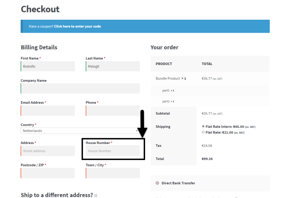 Add House Number in the WooCommerce Checkout