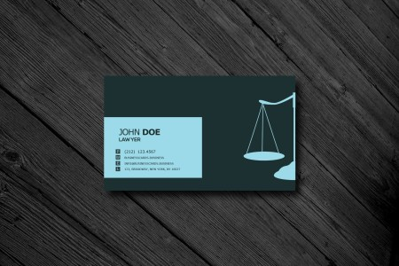 Free Business Card Templates   Business Cards Templates Free Lawyer Business Card PSD Template