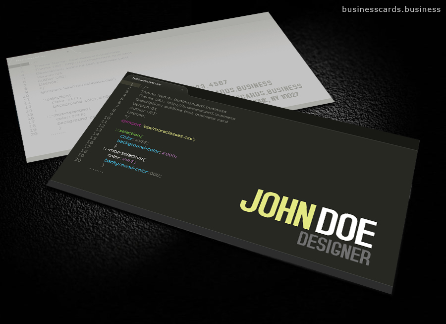 Free Developer Business Card Template for Photoshop   Business Cards     Free Developer Business Card Template for Photoshop