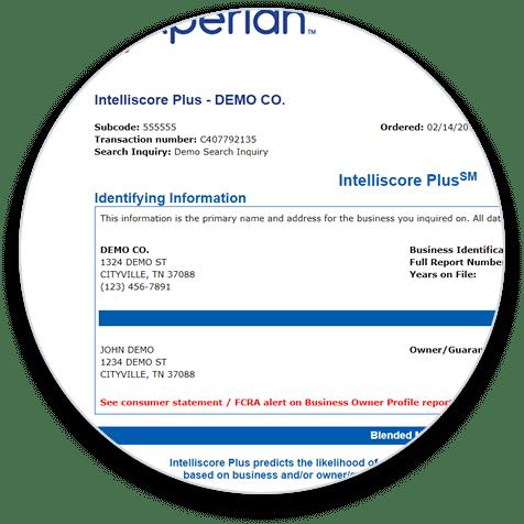 Experian Intelliscore Plus circle graphic