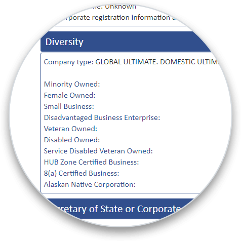 Diversity Data Graphic