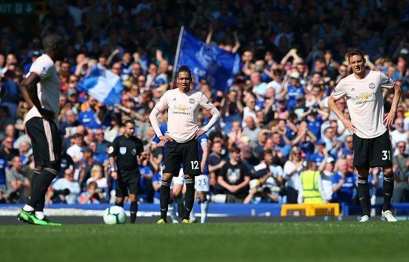 Everton Manchester United Or Goodison Park English Premier League Sunday