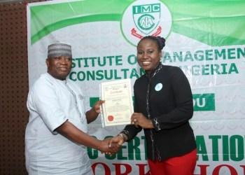 Olabisi Sotunde receives IMC Fellowship - Businessday NG