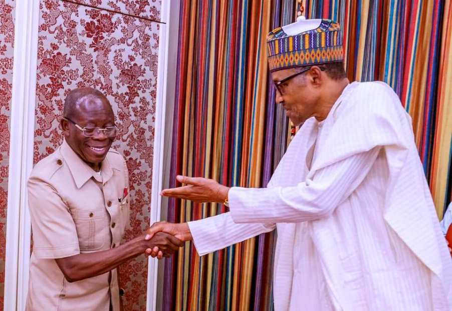 Buhari felicitate with Oshiomhole at 68 - Businessday NG