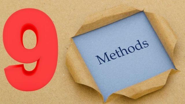 9 methods