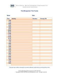 thumbnail of BDU Time Management – Time Tracker