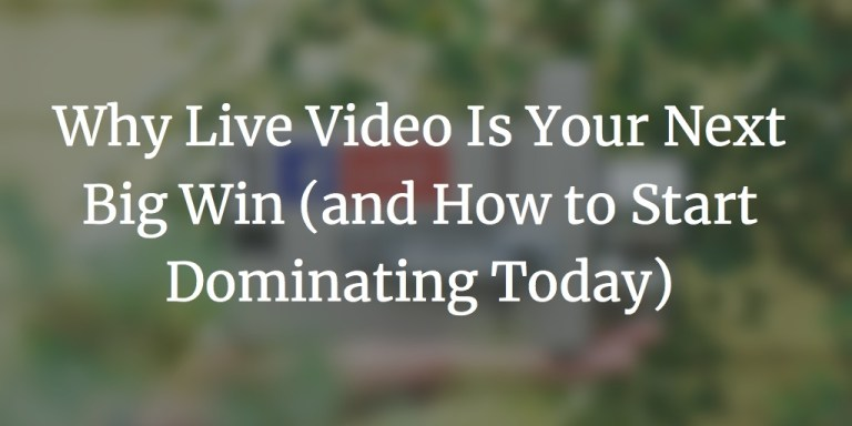 live video your next big win cover image - Why Live Video is Your Next Great Victory (and How to Start Dominating Today)