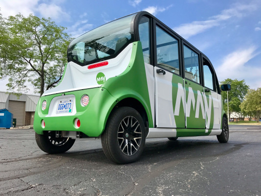 may rearquarter1 - Starting a Freelance Shuttle May Mobility is a partner of automotive supplier Magna