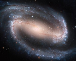 NASA Hubble-Barred Spiral Galaxy