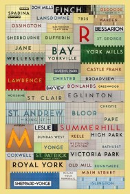 Toronto Subway Font Collage by Jonathan Guy