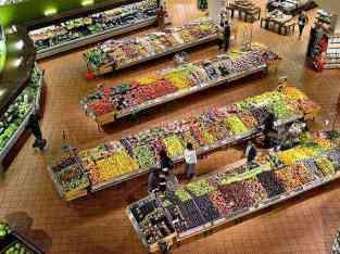 두바이에서 판매되는 신선한 과일 야채 슈퍼마켓