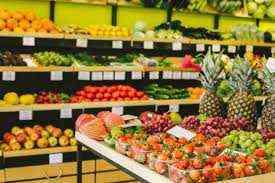 두바이에서 판매되는 야채 및 과일 슈퍼마켓