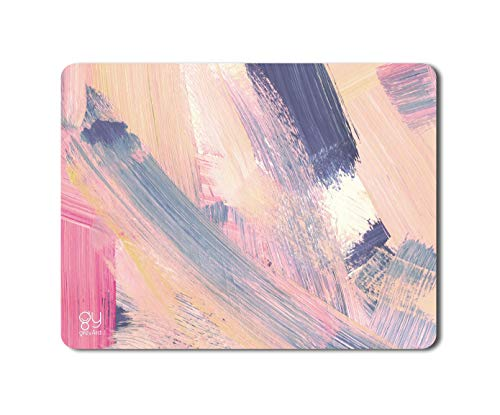GreyArd Pastel Colors Brush Stroke Printed Antiskid Mousepad for Computer and Laptop Medium Size 9X7 inch (3 MM)