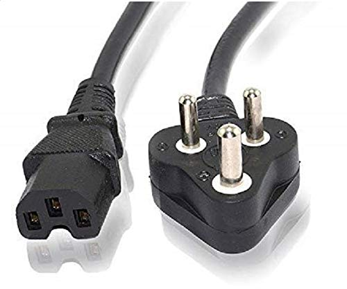 JGD PRODUCTS Computer Power Cable Cord for Desktops PC and Printers/Monitor SMPS Power Cable IEC Mains Power Cable (Black) (1.5M- Black)