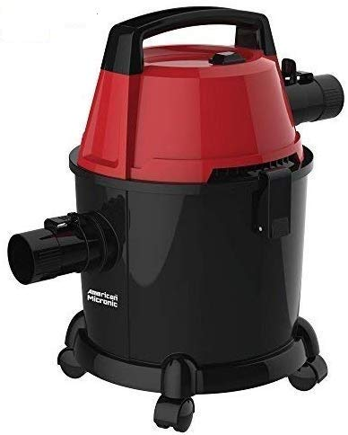 American MICRONIC - AMI-VCD15-1600WDx- 15 Litre Wet & Dry Vacuum Cleaner with Blower & HEPA Filter, 1600 Watts 100% Copper Motor, 28 KPa Suction with Washable dust Bag (Red/Black)