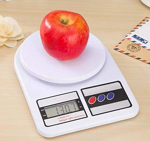 DK HOME APPLIANCES Digital Kitchen Weighing Machine Multipurpose Electronic Weight Scale with Back Light LCD Display for Measuring Food, Cake, Vegetable