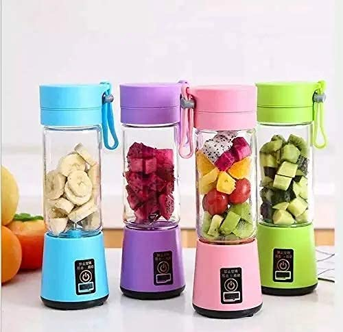 KBR™ Portable Juicer Electric USB for travel Mini Small juices Fruit Mixer Machine Blender Grinder Home and Travel (Multi color)