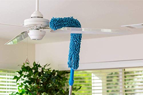 Mobhada Flexible Microfiber Cleaning Duster with Extendable Rod for Home Car Fan Dusting, Home Office Cleaning Tools (Color May Vary)