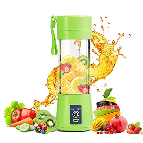 ROYAL STEP 4 blade Portable Blender, Personal Size Electric Rechargeable USB Juicer Cup, Fruit Mixer Machine with 6 Blades for Home and Travel ( Multicolor)