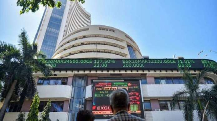 Sensex surges over 250 points to scale 56,000-mark for