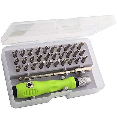 veLx 32 in 1 Interchangeble Multipurpose Mini Screwdriver Set Magnetic Slot Wrench Bits Repair Tools Kit Set Combination Screwdriver Set for Home Appliance,Laptop,Mobile,Computer