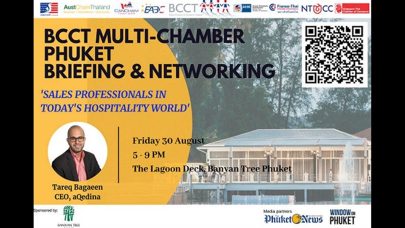 International sales expert to highlight BCCT Chambers of Commerce Phuket Business Briefing